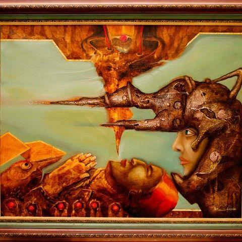 GMelo Art - Galería de arte - El pensamineto se eleva y los secretos se acumulan